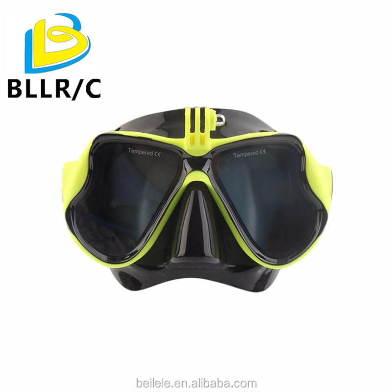 2017 Hot Professional Underwater Camera Diving Mask Scuba Snorkel Swimming Goggles for GoPro Xiaomi SJCAM Sports Camera yellow