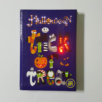 paper material led light up custom journal / diary hardcover book