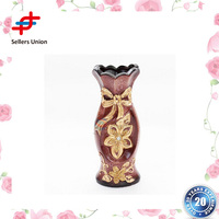 Wholesale tall cylinder ceramic china flower vase for wedding centerpieces