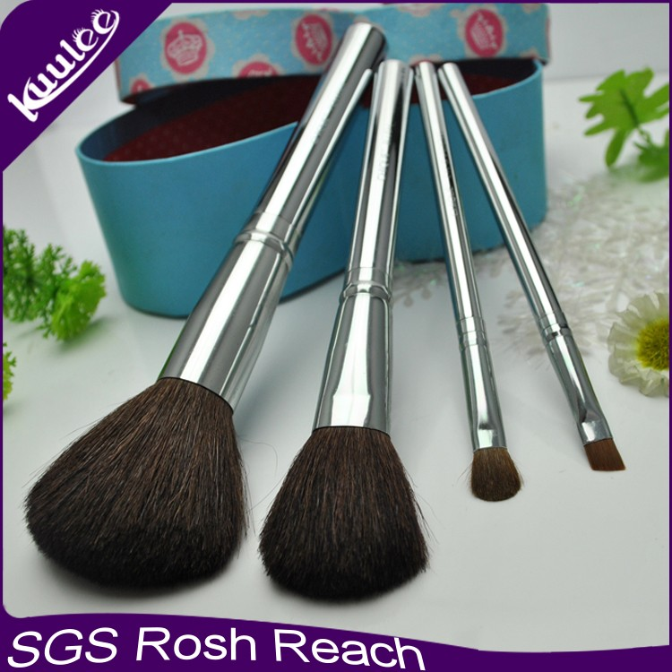 Hot Sell Factory Cheap Price China Manufacturer OEM Quality 4Pcs Cosmetic Makeup Brush Kits