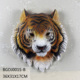 Resin Craft Tiger Head Sculpture Wall Decoration