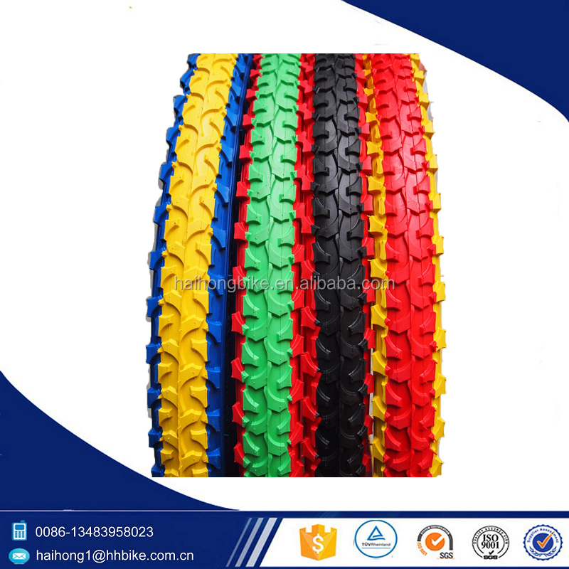 Two color mountain bike tire at factory price