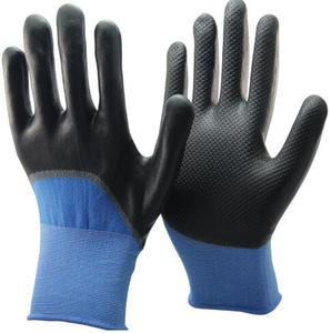 NMSAFETY 15G nylon glove China manufacturer Micro foam nitrile glove coated