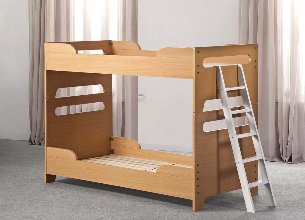Simple de madera muebles de dormitorio ni os ni os literas - Doble cama para ninos ...