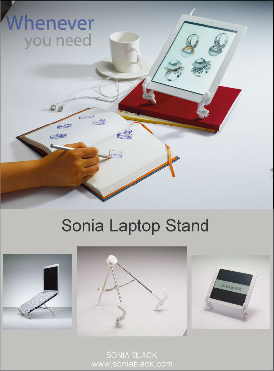 Surprising Sonia Laptop Stand Laptop Computer Tablet Pc Ipad Galaxy Tab Kindle Holder Buy Support For Ipad Book Stand Support For Laptop Product On Interior Design Ideas Gentotryabchikinfo