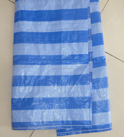 Blue and white striped waterproof awning fabric tarp