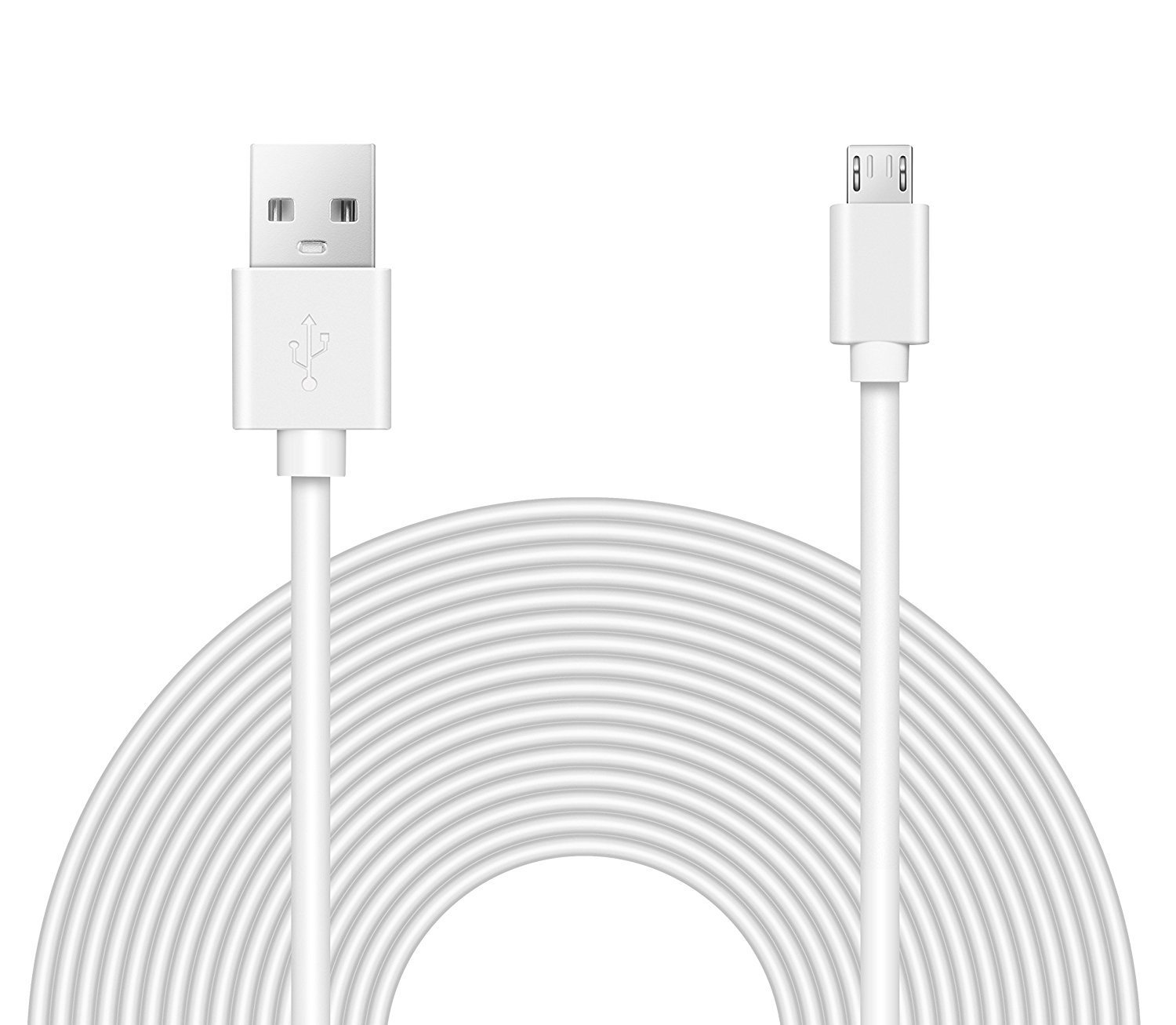 OMNIHIL Replacement (32FT) 2.0 High Speed USB Cable for D-Link Wireless Dual Band N-900 Mbps USB Wi-Fi Network Adapter (DWA-162) - White