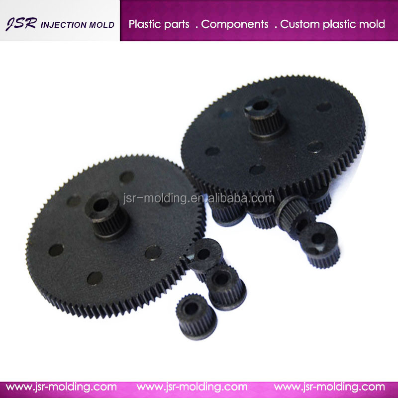 Custom electronic plastic components according to customer's drawing for plastic gears and shaft , plastic nylon tooth gears