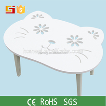 Low price wood round kids study table, wooden children table