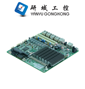 China 1 U-Router mainboard Intel-Bucht hinter Celeron J1900 Prozessor X86 4 LAN-Ports tragbare Tablet-PC-Router-Motherboard