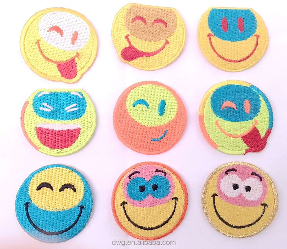 Wholesale Creative Emoji patches for garments, bags and shoes