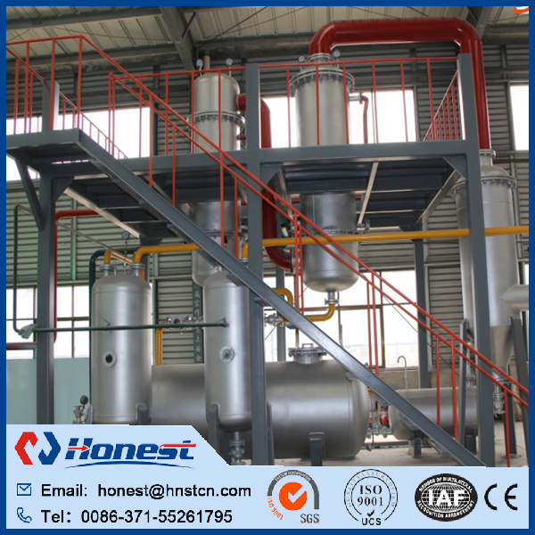 Brand new plastic bags pyrolysis plant with high quality