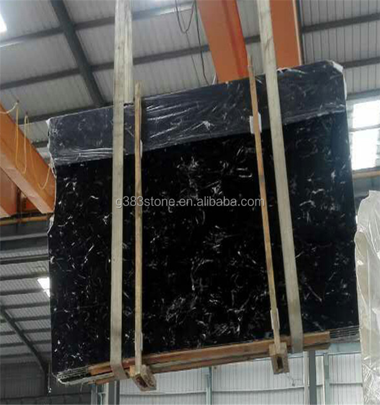 Customized hot sale black rose marble tile