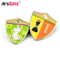 Wholesale Hot Sale Cheap custom metal enamel badge shield