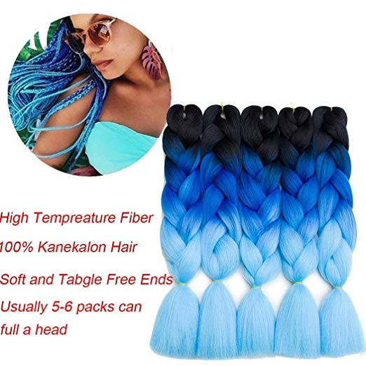 24inch synthetic xpression hair high quality jumbo braid without tangle