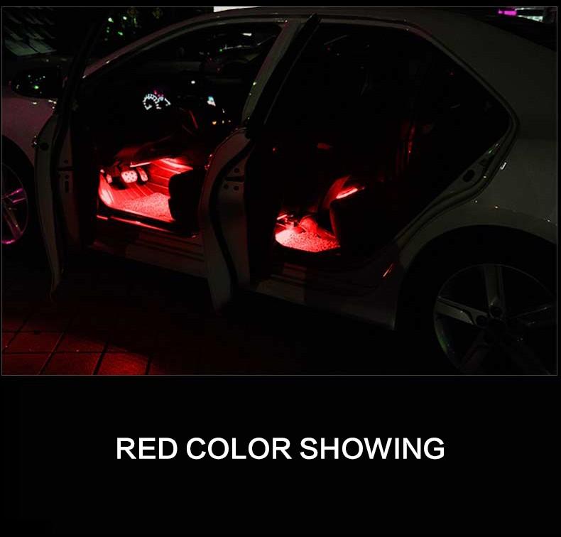 Htauto 16w1000 Lm Auto Accessoires Interieur Voet Licht Led Lamp Met ...