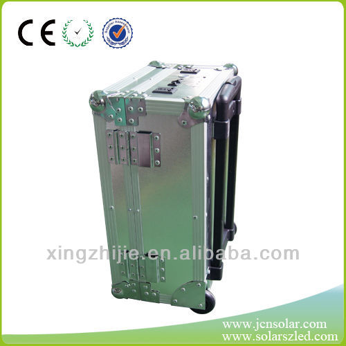 40W suitcase solar power system with pull rod