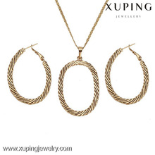 62379- xuping 14k gold hoop imitation jewelry set for girls and women