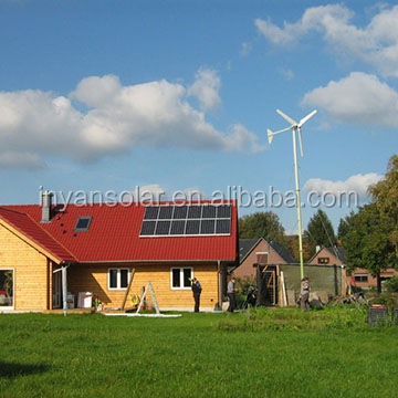 off grid hybrid solar wind power system for home use 1.5kw 3kw 5kw