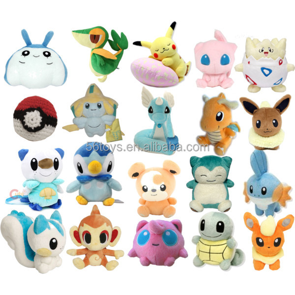 Japanese plush pokemon toy pokemon go soft plush pokeball