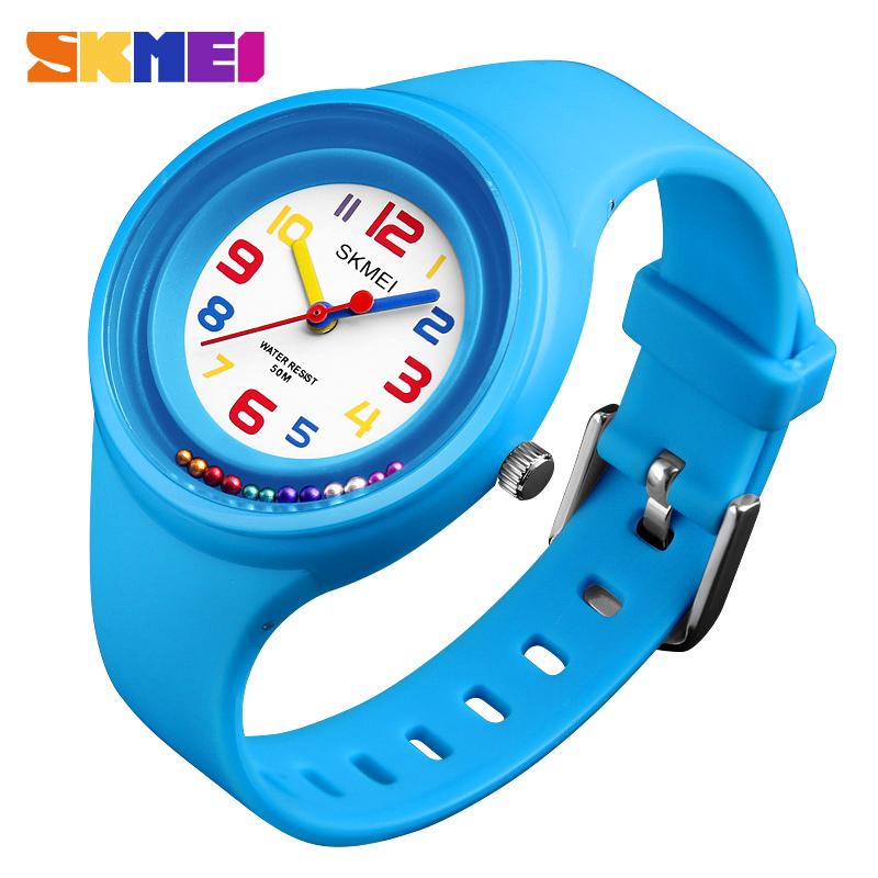 Alibaba.com / SKMEI Kids Quartz Watches Boys 50M Waterproof Girls Candy Watch Student Fashion Casual Wristwatches Kinderhorloge 1386 Children