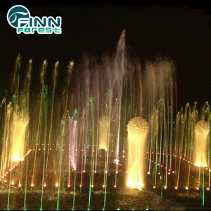 19m*19m outdoor Wonderful water led lighting feature lowes garden fountains