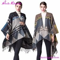 Woman Winter Coat Parker Cape Poncho Shawl Scarf Sweater Cardigan Women