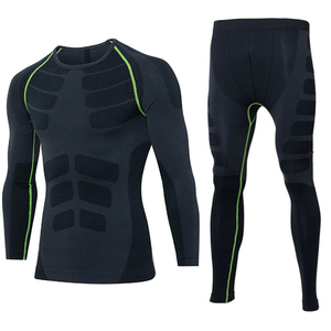 Tight Sports Shirts Lines With Stylish Design Seamless Fitness Activewear Set For Men