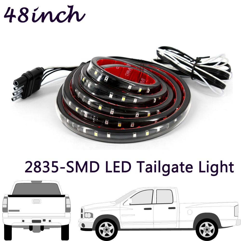 Tinpec 48&quot; Red/white Tailgate LED Strip <strong>Light</strong> Bar Truck Reverse Brake Turn Signal <strong>Tail</strong> for 1999-2014 <strong>Ford</strong> F-150 F-250 F-350 F-45