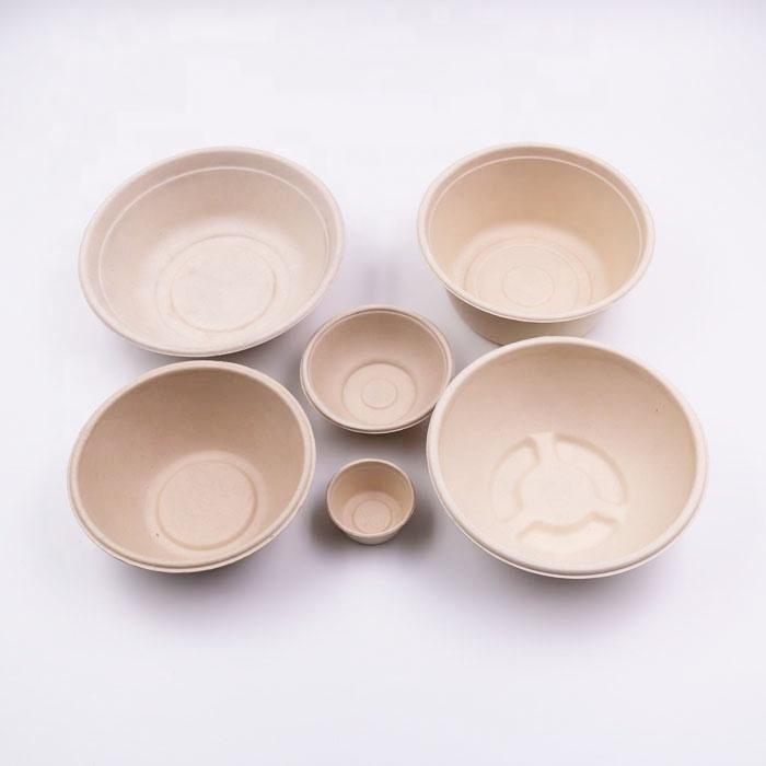 biodegradable bamboo fiber salad bowl disposable
