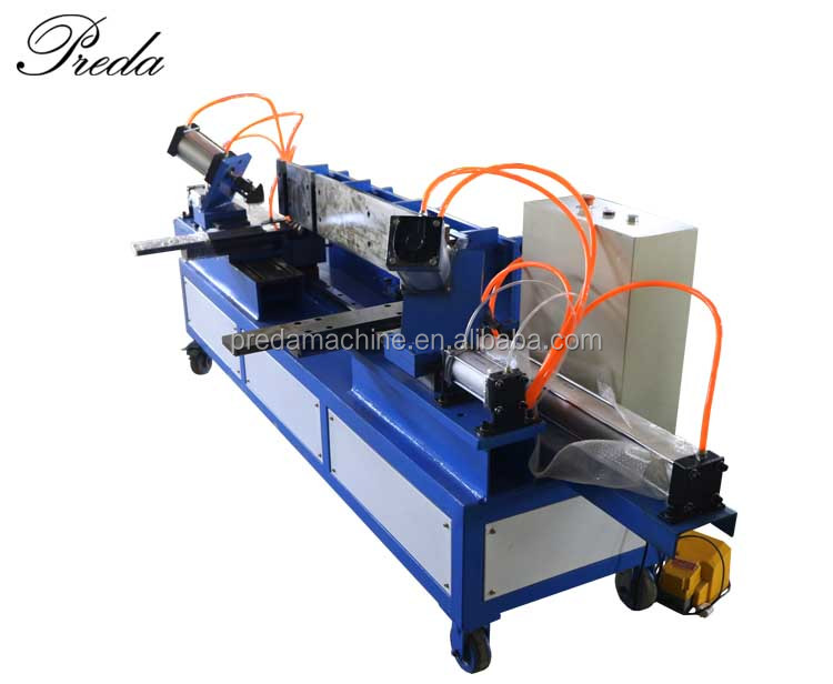 HVAC auto duct lock seaming machine by air control