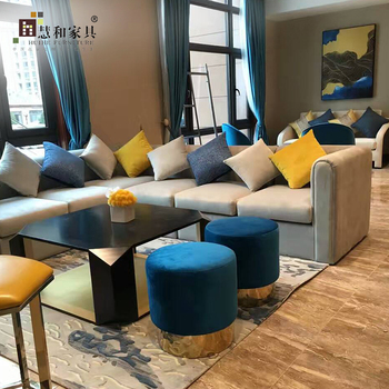 Custom Hotel Sofa Furniture Modern Lobby For