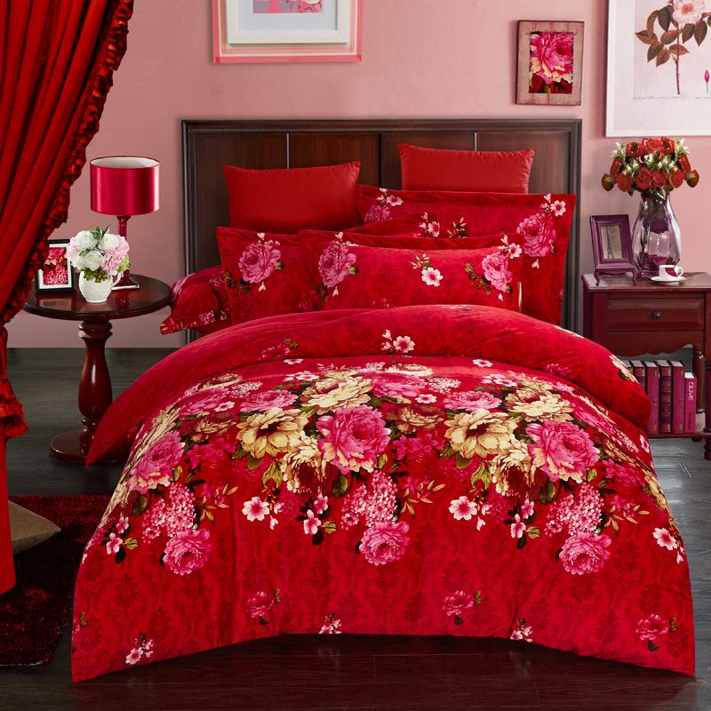 pivoine couette ensemble promotion achetez des pivoine couette ensemble promotionnels sur. Black Bedroom Furniture Sets. Home Design Ideas