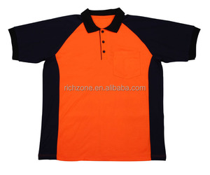 High visibility reflective safety work polo T-shirt, T/C fabric