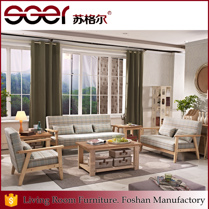 L shape more seats wooden frame furniture elegant modern sofa