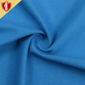 Warp Blue Dacron Plush Breathable Light Proof Curtain Fabric