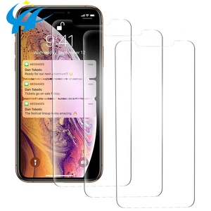 3 pack for iphone x free shipping sample 3d clear pet frame japan material screen protector for iphone xs xr xs max