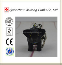 Fashion Resin Gifts Black Pig Key Ring Statue