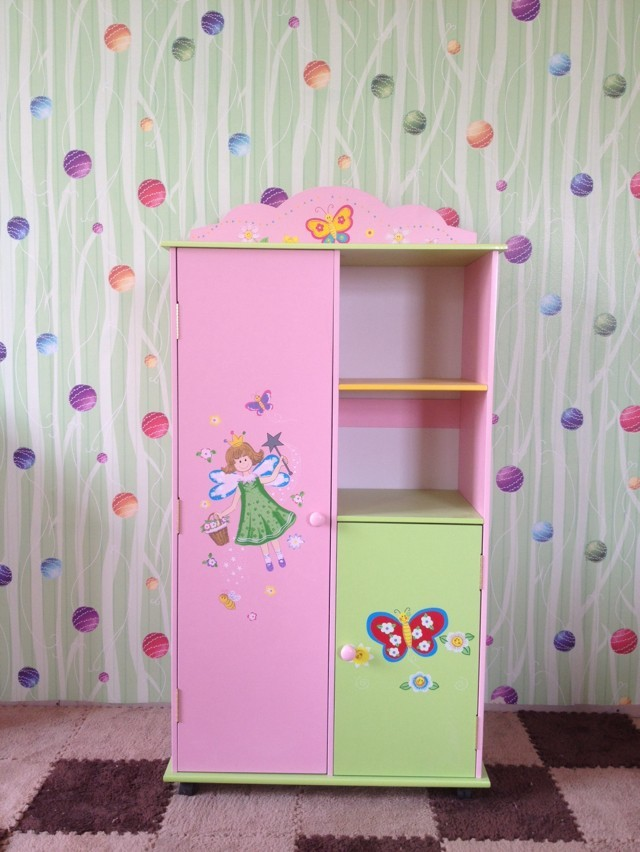 Top Hot Selling Wooden Kids Wardrobe Cabinet For Storage