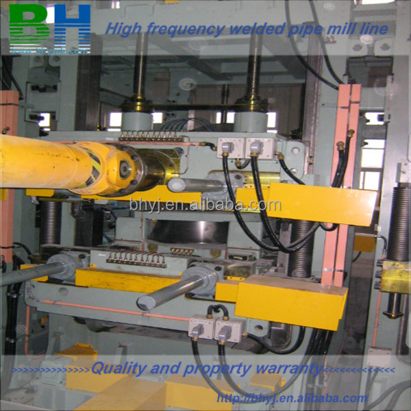 Automatic welded pipe bending forming and sizing machine