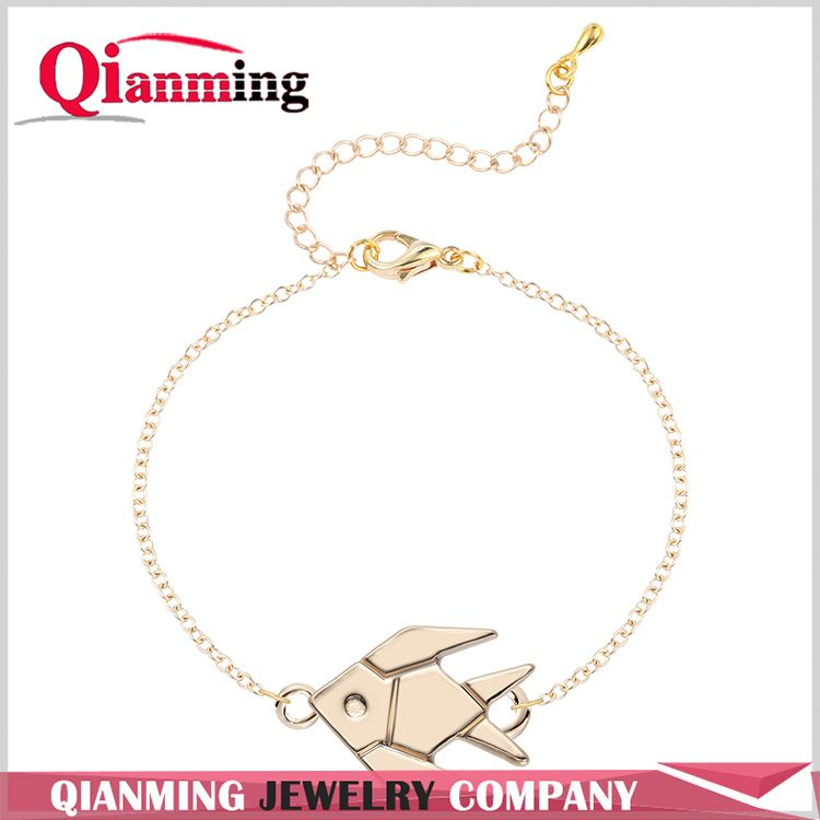 Friendship Bracelets for Stud Lovely Sea Animal Wholesale Jewelry Tropical Fish Bracelets Charm Bangle Chain For Women