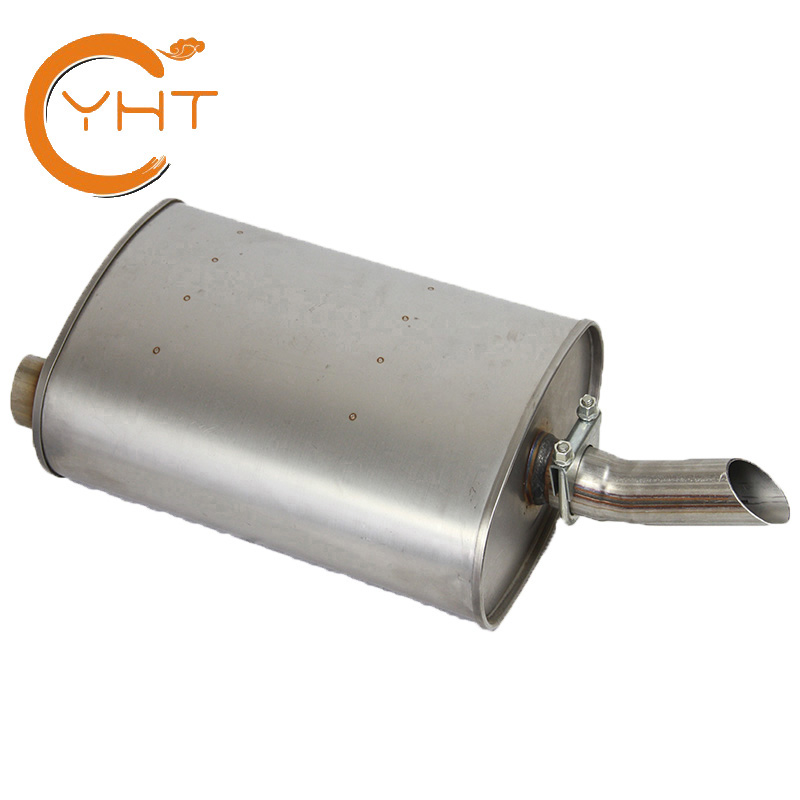 factory direct sale aftermarket car muffler 21284 409L stainless steel rolled exhaust pipe