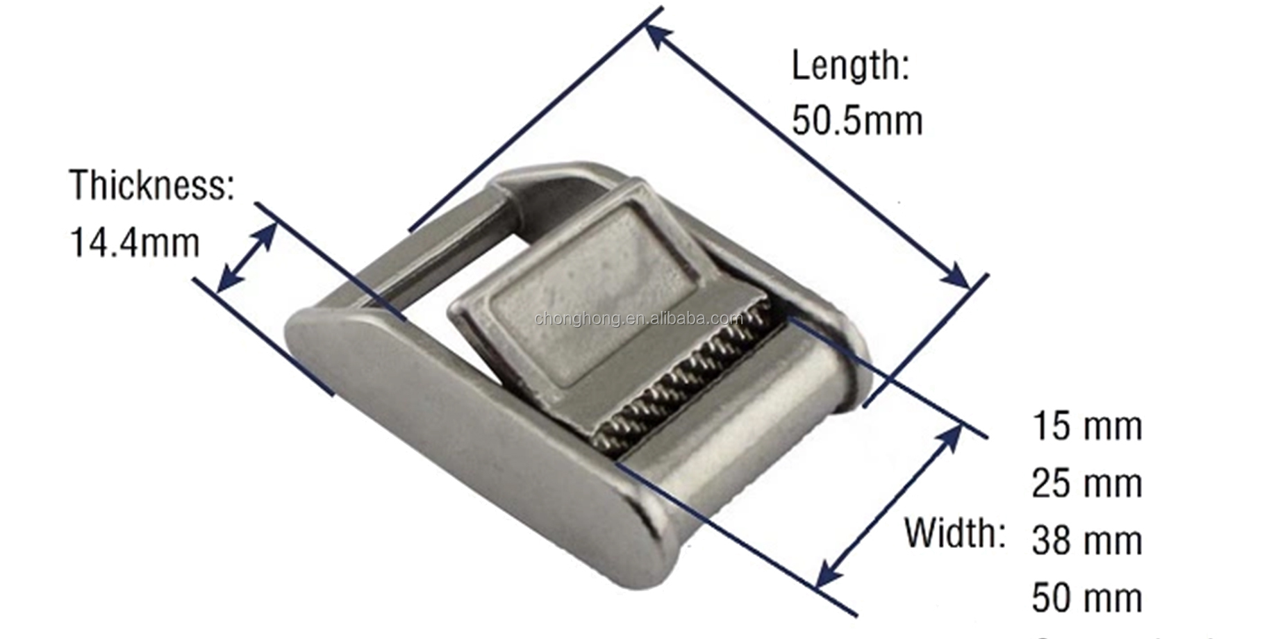 15mm,25mm,38mm,50mm Stainless Steel Cam Buckle,Ratchet Buckle for Cargo Lashing Strap