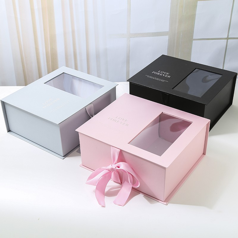 Wedding Candy Box With Flower Decoration Wedding Candy Box With