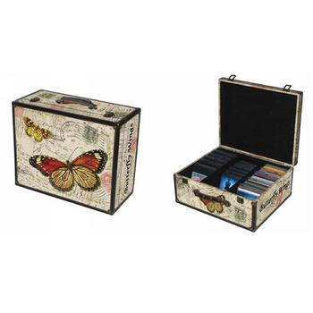 Custom Mdf Vintage Decorative Dvd Storage Bo