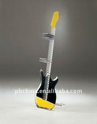 Pw-749 Guitar Acrylic Cd Dvd Rack Holder