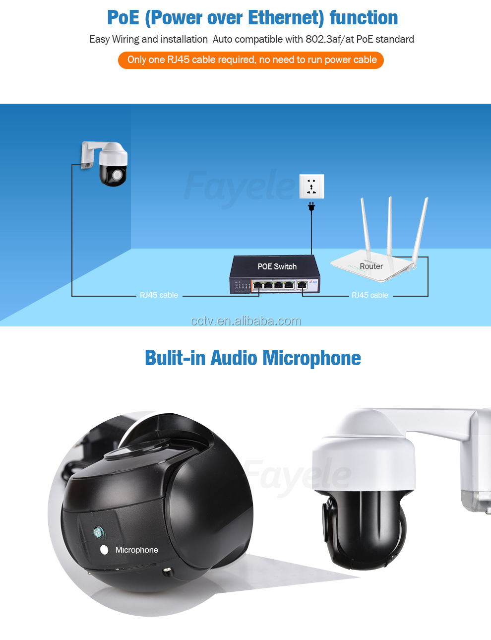 "Outdoor IP66 1080P Wireless IP Camera WIFI 2MP 3"" MINI Size PTZ Camera 4X ZOOM P2P CamHi Bulit-in Microphone"