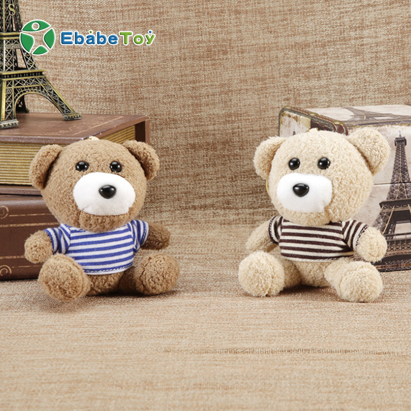 Promotional Gift Stuffed animal soft teddy bear keychain plush bear toy gift for hanging key ring