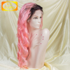wholesale long full lace wigs 1b/pink body wave indian remi full lace wig with baby hair
