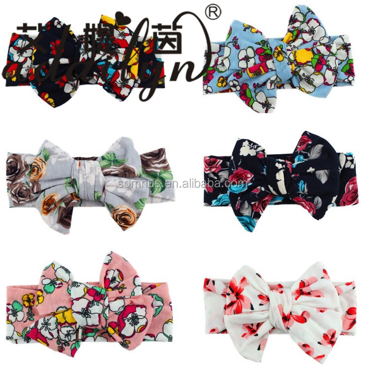 Super Quality DIY Bows Baby Girls Cotton Vintage Stretch <strong>Headbands</strong>